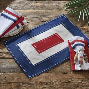 Nautical Signal Flag Cotton Placemat & Napkin Set - Nautical Luxuries