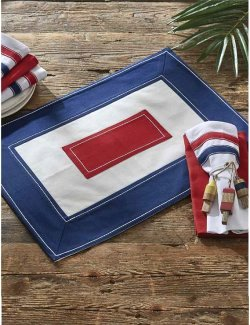 Nautical Signal Flag Cotton Placemat & Napkin Set