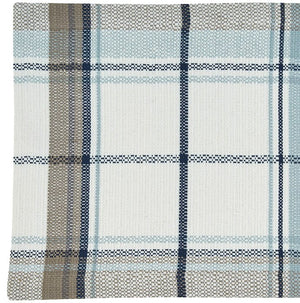Beach Cottage Plaid Table Linens - Nautical Luxuries