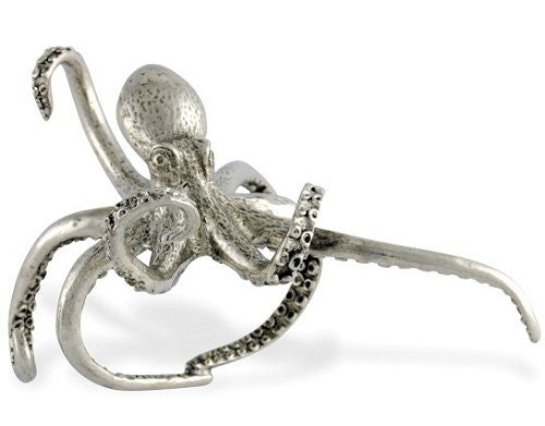 Denizen of the Deep Pewter Napkin Rings