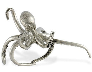 Denizen of the Deep Pewter Napkin Rings - Nautical Luxuries
