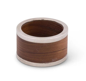Modish Teak Napkin Rings - Nautical Luxuries