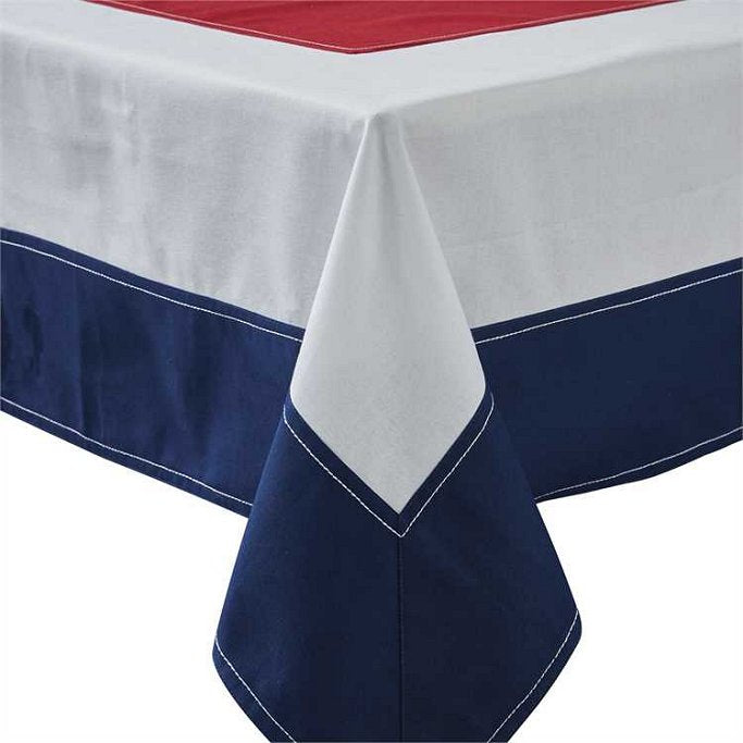 Nautical Signal Flag Square Cotton Tablecloth - Nautical Luxuries