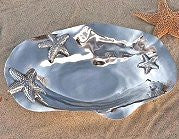 Floating Starfish Aluminum Serving Bowls - Nautical Luxuries