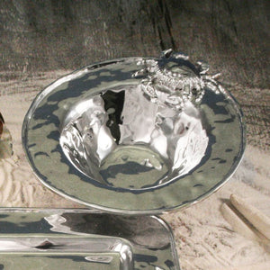 Hammered Aluminum Crab Serving Pieces - Nautical Luxuries