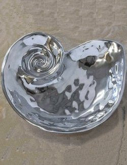 Aluminum Nautilus Appetizer Server - Nautical Luxuries