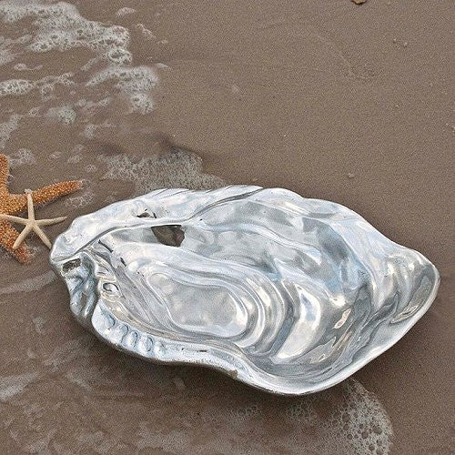 Sea Oyster Aluminum Serving Bowl - Nautical Luxuries