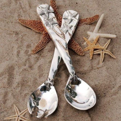 Ocean Starfish Aluminum Server Set - Nautical Luxuries