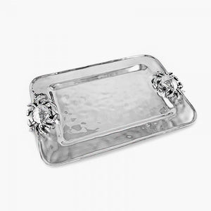 Hammered Aluminum Crab Platter - Nautical Luxuries