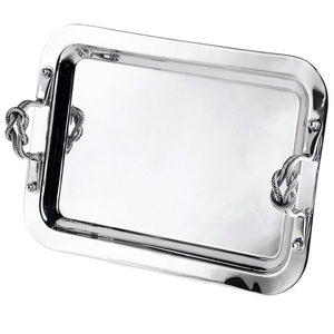 Knotted Handle Nautical Serving Tray - Nautical Luxuries