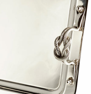 Knotted Handle Nautical Serving Trays - Nautical Luxuries