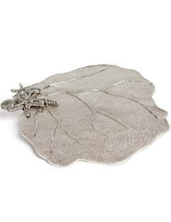 Aluminum Sea Fan Cheese & Cracker Serving Platter
