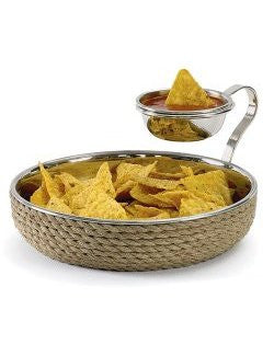 Rope Wrapped Chip & Dip Serving Set