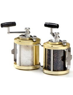 Deep Sea Fishing Reel Salt & Pepper Grinder Set - Nautical Luxuries