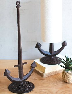 Rustic Iron Anchor Paper Towel Holder
