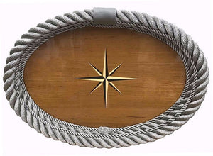 Italian Design Oval Rope Serving Tray - Nautical Luxuries