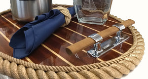 Cleat Handled Cabinsole Deck Tray - Nautical Luxuries