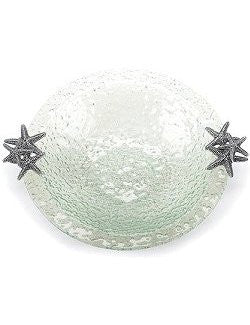 Seafoam Starfish Glass Centerpiece Serving Bowl