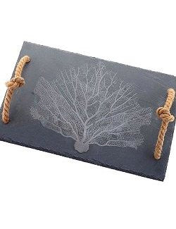 Slate Beach Coral Serving Tray/Cutting Board