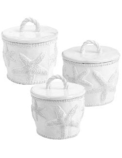 Sea Star Beach Cottage Canister Set