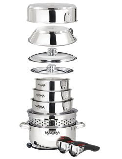 Pro-Style Space-Saver Boat 12-Pc. Cookware Set - Nautical Luxuries
