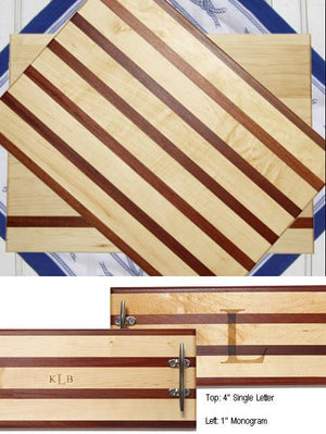 Solid Mahogany & Maple Chopping Blocks - Nautical Luxuries