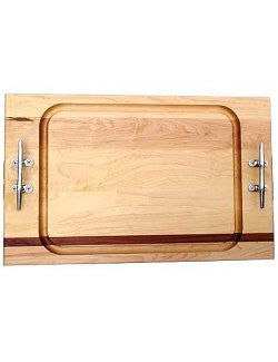 Cleat Handle Solid Mahogany & Maple Banquet Carvery Boards - Nautical Luxuries