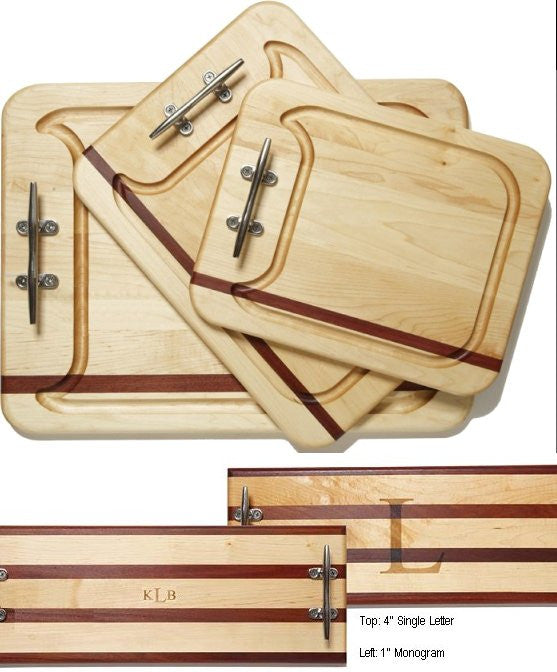 Cleat Handle Mahogany & Maple Serving Boards