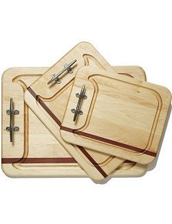 Cleat Handle Mahogany & Maple Serving Boards - Nautical Luxuries