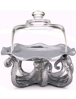 Petite Domed Octopus Display Tray - Nautical Luxuries