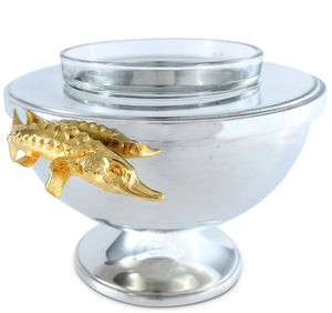 Golden Sturgeon Caviar Server
