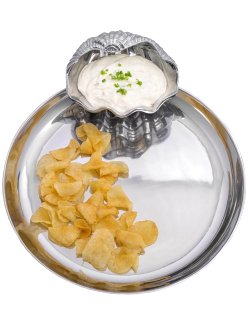 Clamshell Chip & Dip Serving Tray - Nautical Luxuries