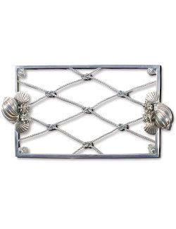 Fisherman's Catch Glass Centerpiece Serving Plate - Nautical Luxuries