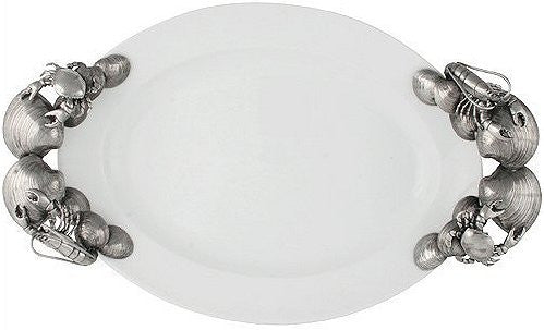 Fisherman's Bounty Porcelain Oval Serving Platter