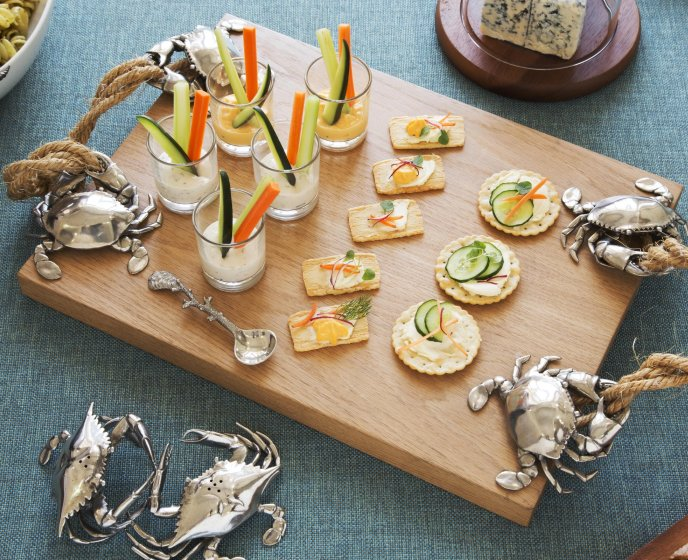 Fisherman's Catch Wood Serving Platter - Nautical Luxuries