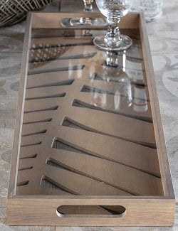 Tropical Palm Wood Centerpiece Tray - Nautical Luxuries