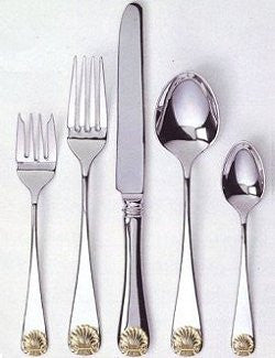 Continental Golden Shell Stainless Flatware  sc 1 st  Nautical Luxuries & Flatware u0026 Hostess Sets - Nautical Luxuries