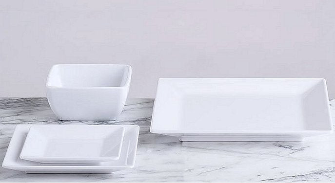 Moda Square Luxury Melamine Dinnerware - Nautical Luxuries