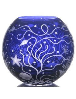Bohemian Crystal Engraved Atlantis Vase - Nautical Luxuries