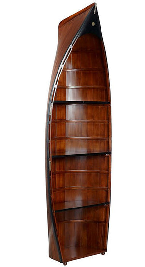 Solid Wood Working Dinghy Bookshelf - Nautical Luxuries