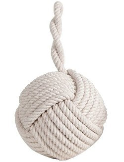 Cotton Monkey Fist Knot Nautical Doorstop Decor
