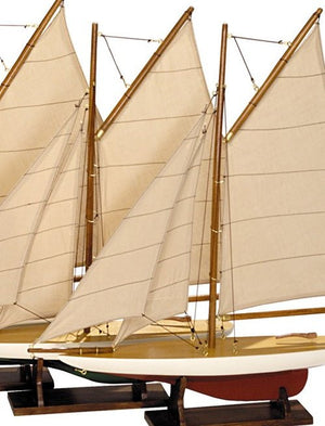 Replica Pond Yacht Model Set - Nautical Luxuries