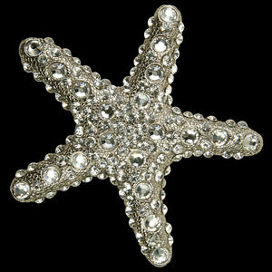 Swarovski Crystals Metal Starfish Decor Sets - Nautical Luxuries
