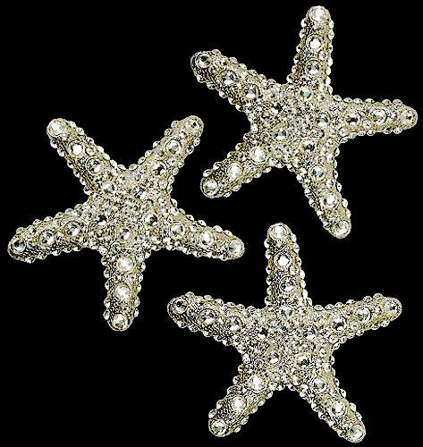 Swarovski Crystals Metal Starfish Decor Sets
