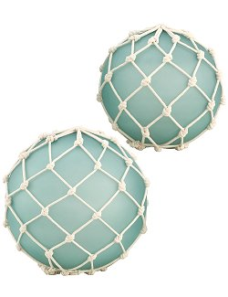Large Frosted Glass Knotted Float Set - Nautical Luxuries