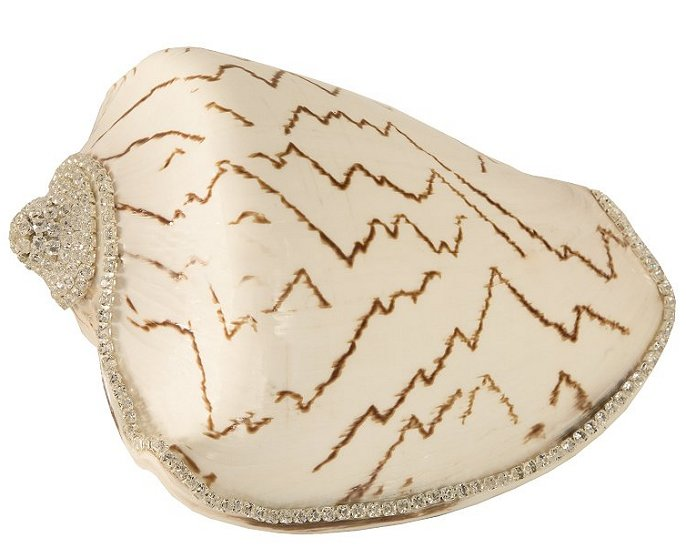 Neptune's Jewels Crystal Shell Collection Egyptian Brown Stripe - Nautical Luxuries