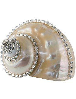 Neptune's Jewels Crystal Shell Collection Turbo Burgess Pearl