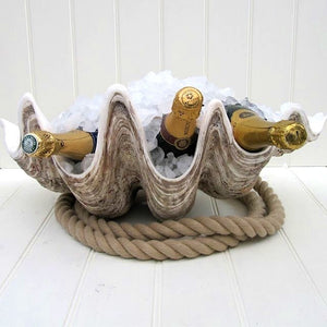 Giant Clamshell Centerpiece - Nautical Luxuries