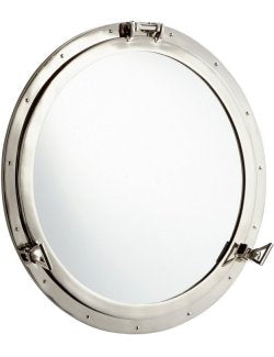 Steamship Era Riveted Porthole Mirror - Nautical Luxuries