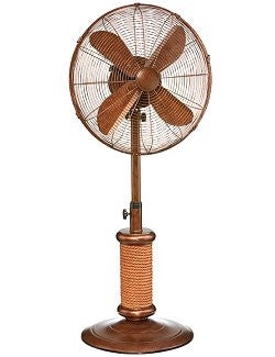 Nautical Rope Base Adjustable Outdoor Floor Fan - Nautical Luxuries